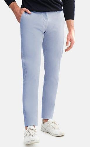 Sky Blue Stretch Washed Chinos