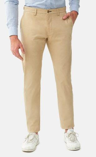 Khaki Stretch Washed Chinos