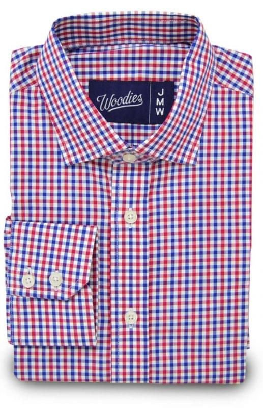 Red White & Blue Gingham Shirt
