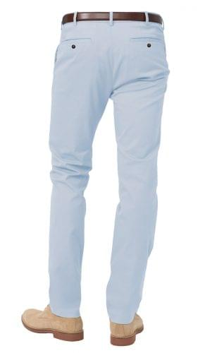 sky blue stretch chino