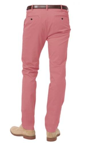 summer red stretch chino