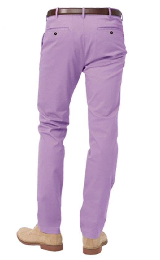 Washed Purple Stretch Chinos