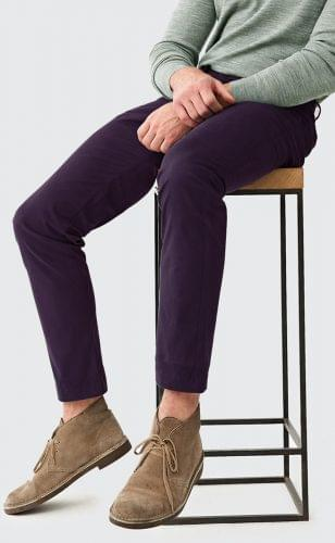 Plum Stretch Washed Chinos