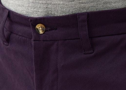 Dark Plum Stretch Chinos