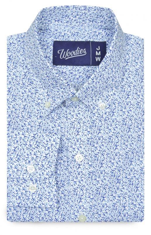 Blue Mini Floral Print