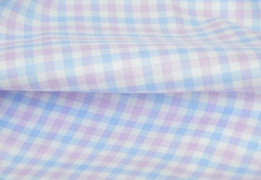 Light Blue & Lavender Gingham Performance Dress Shirt