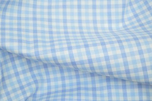 Multi Blue Gingham Performance Dress Shirt