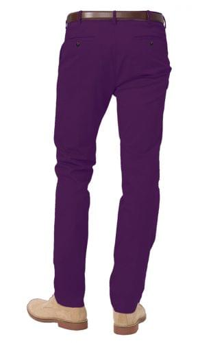 plum stretch chino