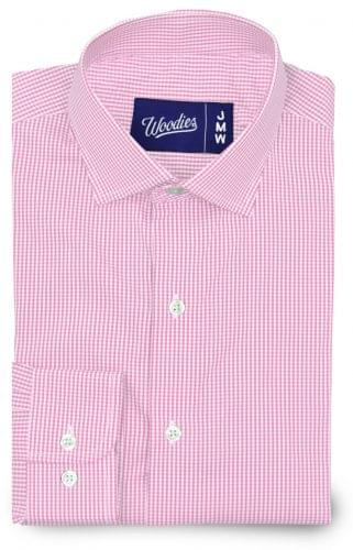 Pink gingham stretch