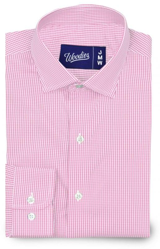 Pink Gingham Active Stretch Fabric Shirt