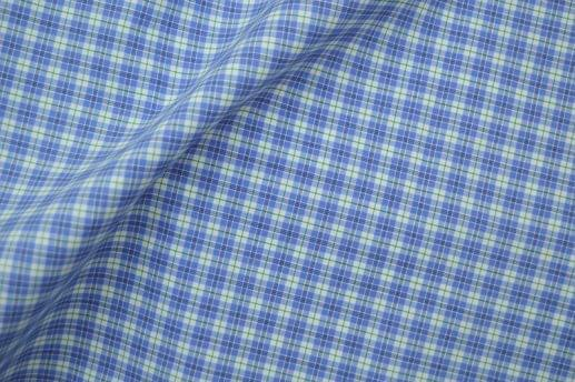 Blue and Green Easy Care Plaid Shirt