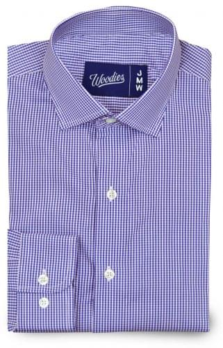 purple gingham stretch