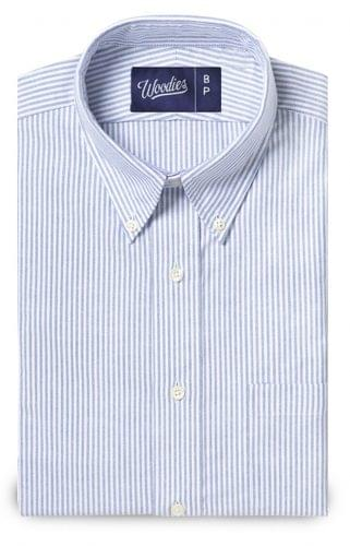 blue striped oxford