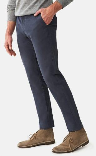 Navy Stretch Washed Chinos