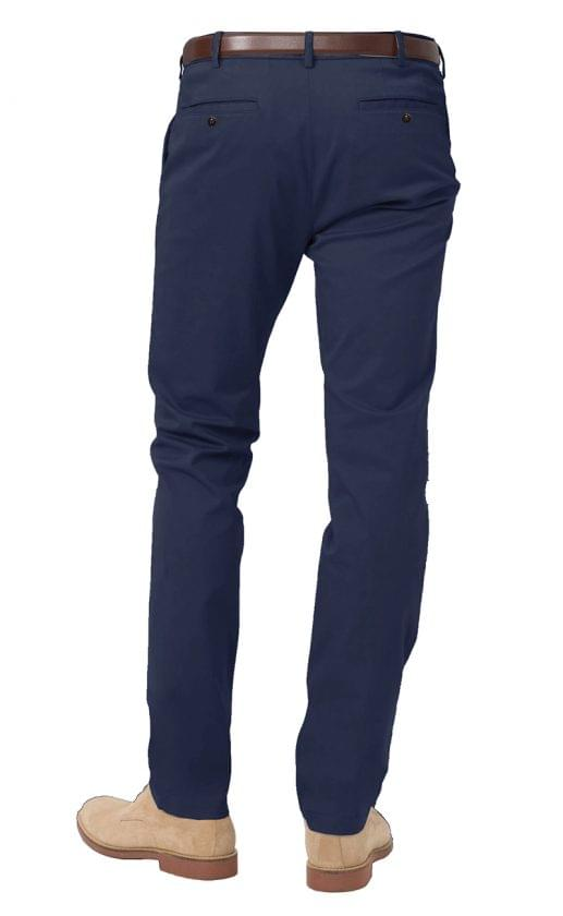 Classic Navy Stretch Chinos