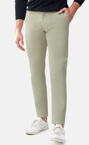 Light Olive Stretch Washed Chinos