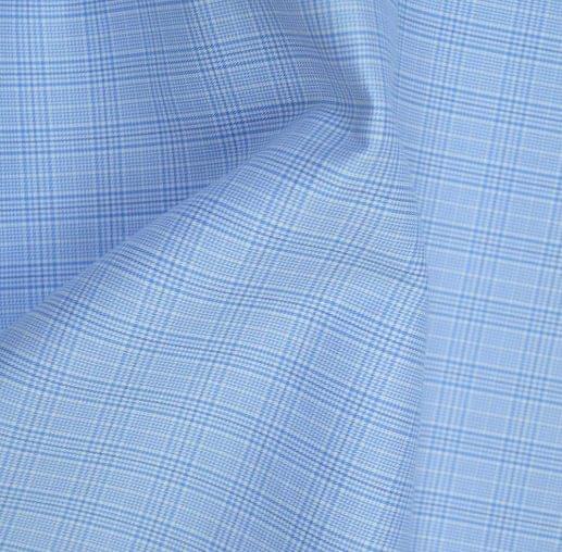Light Blue Plaid Easy Care Shirt