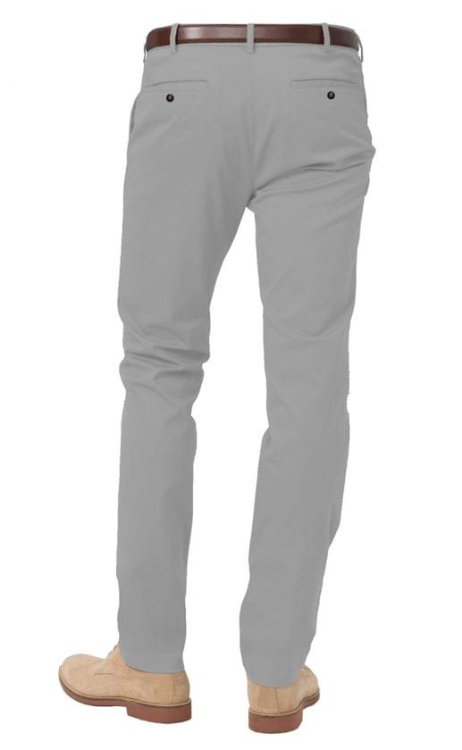 Light Grey Stretch Chinos