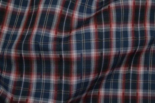 Multi Colored Jacquard Plaid Easy Care Shirt