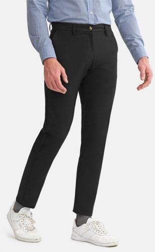 Black Performance Stretch Chinos