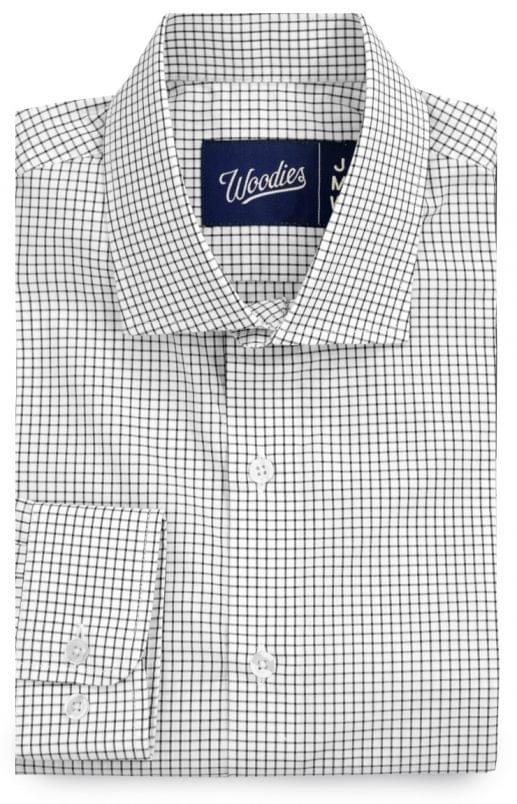 Black Grid Check Dress Shirt