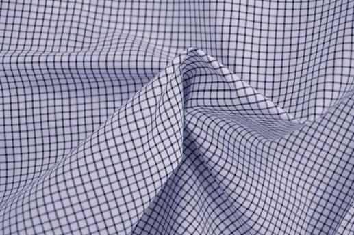 Blue Grid Check Dress Shirt