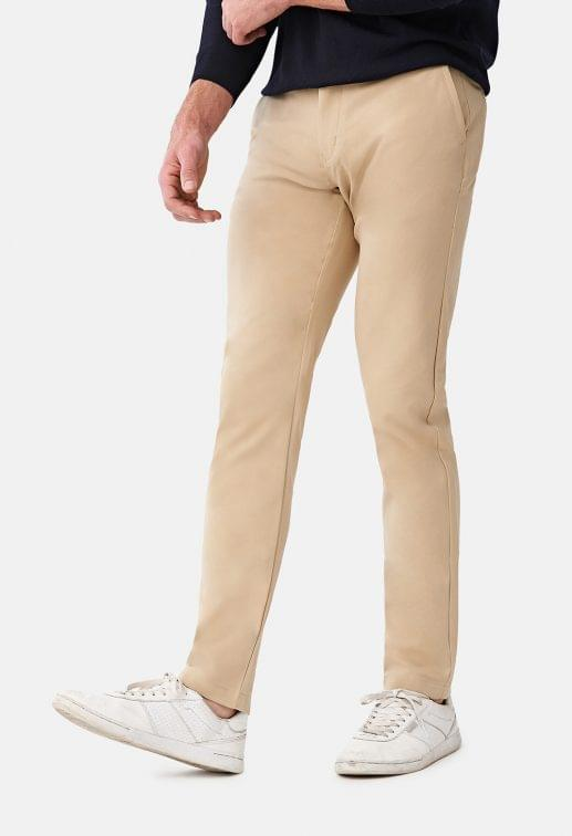 Premium Performance Khaki Stretch Chinos