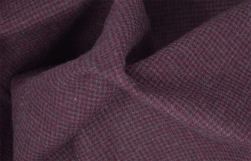 Maroon and Grey Houndstooth Flannel