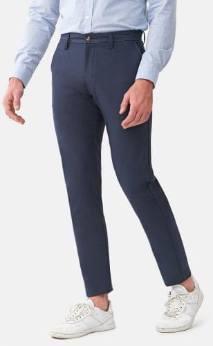 Navy Blue Performance Stretch Chinos