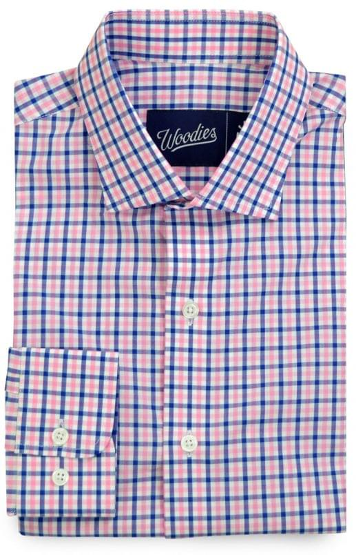Pink & Blue Gingham Shirt