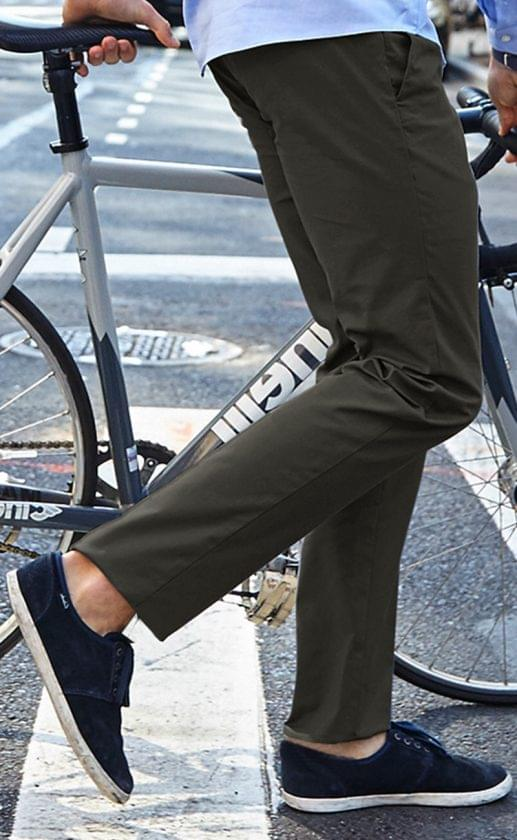 Premium Performance Taupe Stretch Chinos