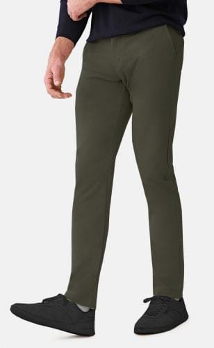 Taupe Performance Stretch Chinos