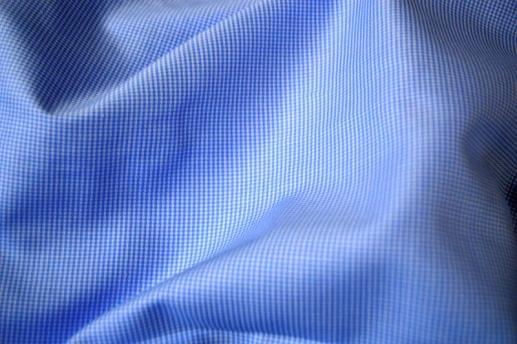 Mini Blue Houndstooth Non-Iron Shirt