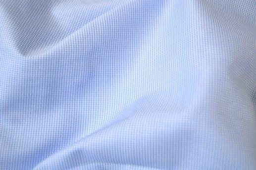 Mini Light Blue Houndstooth Non-Iron Shirt