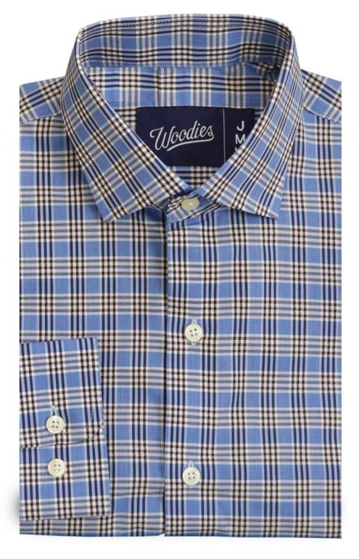 Blue and Black Easy Care Check Shirt