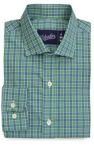 Green Blue White Plaid