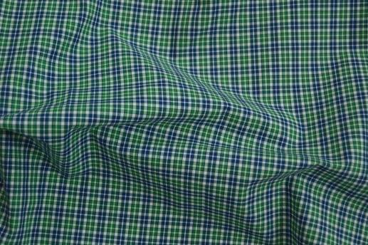 Green White & Blue Mini Plaid Shirt