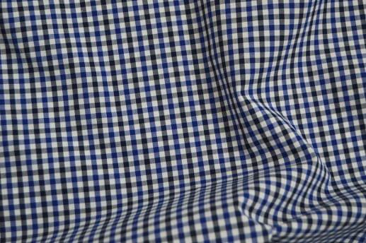 Blue and Black Gingham Shirt