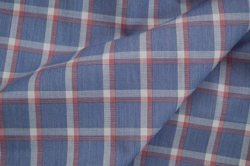 Blue with Pink and White Check Shirt