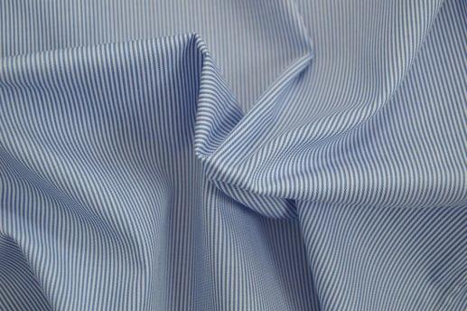 Blue Stripe Easy Care Twill Shirt