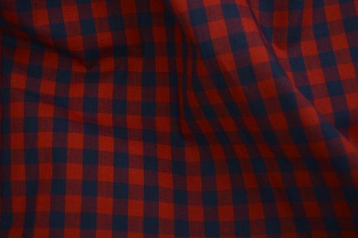 Navy and Red Medium Gingham Shirt