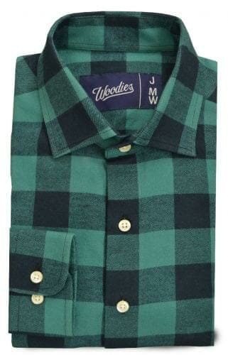 Blue and Teal Buffalo Check Flannel