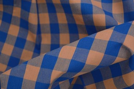 Light Orange & Blue Large Gingham Shirt
