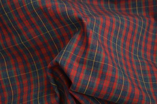 Red & Blue Heathered Plaid Shirt