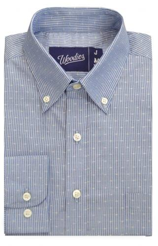 Multi Blue Custom Dress Shirt with Dots