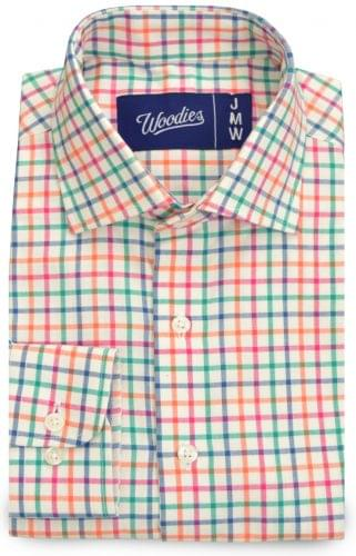 Multi Colored Tattersall Custom Dress Shirt