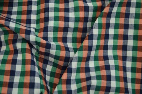 Mutli Color Gingham Custom Shirt Fabric