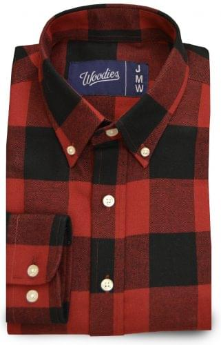 Red and Black Buffalo Check Custom Dress shirt