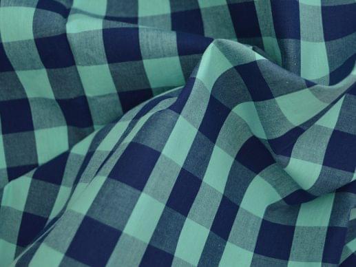 Navy & Teal Large Gingham Shirt