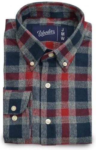 Heather Grey and Blue Plaid Flannel Custom Shirt